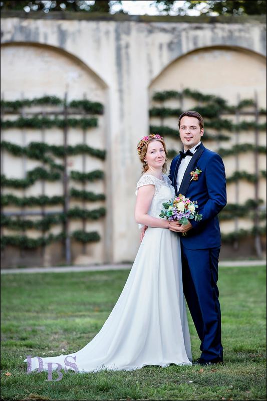 Klassisches Hochzeitsfoto Brautpaar